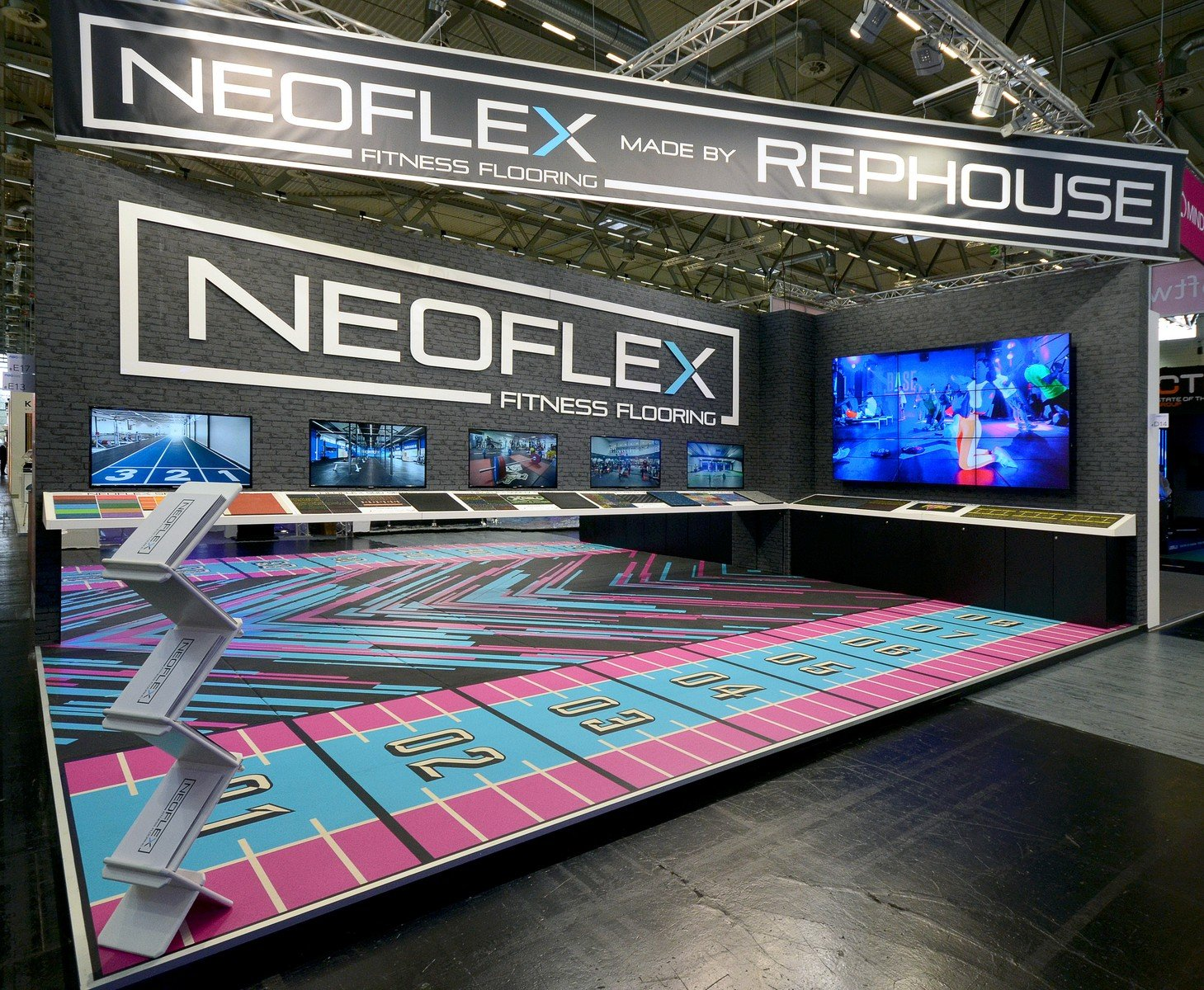 Rephouse Neoflex Fitness Floring Messestand Fibo 2018 3