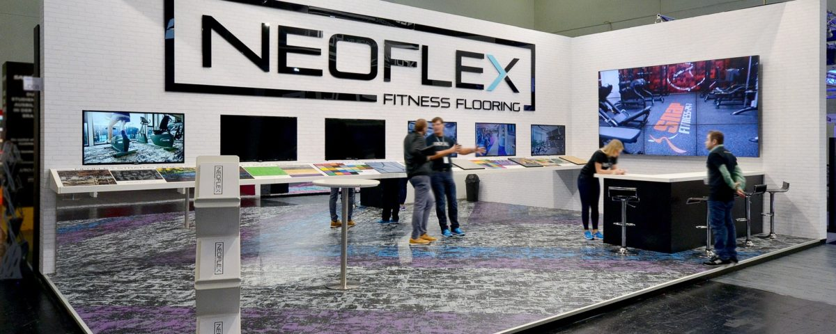 Rephouse Neoflex Fitness Floring Messestand Fibo 2018 4